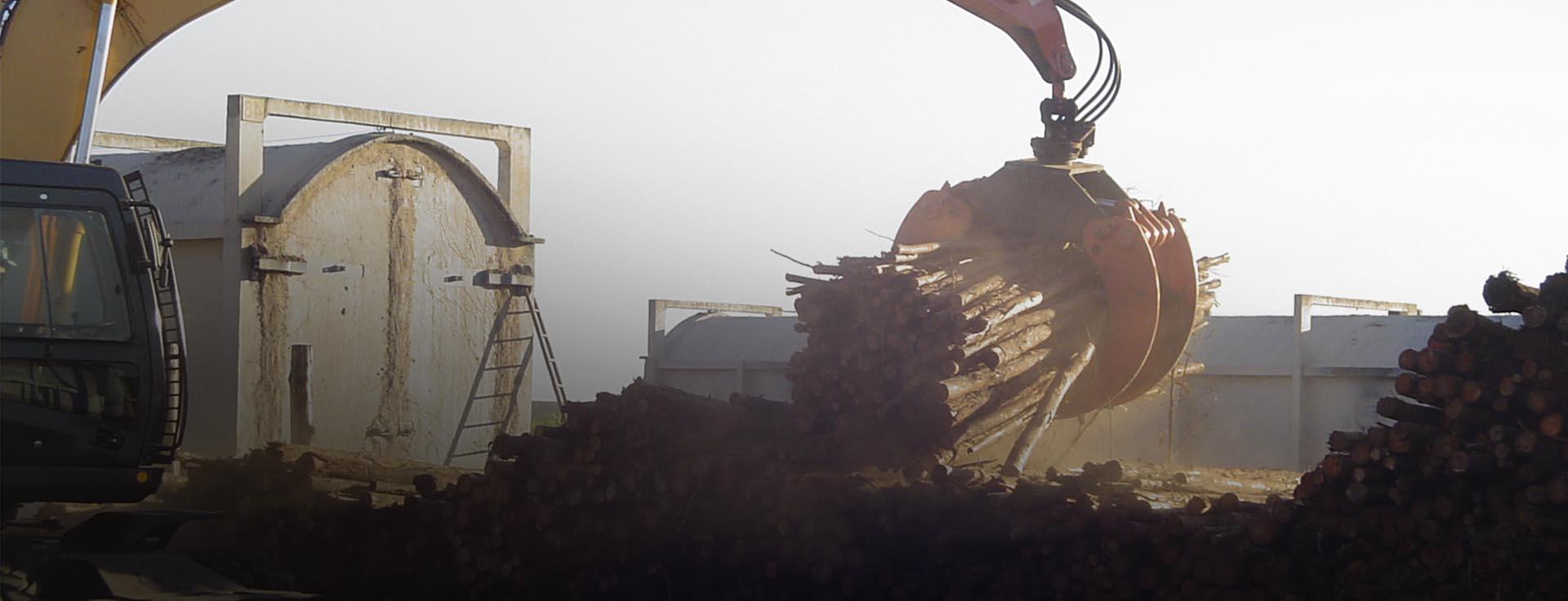 Garras Movimentação de toras carvão cavaco blocos e resíduos